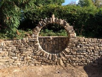 limestone moon bench