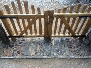 chestnut picket gates