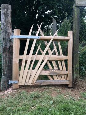 spikey chestnut gate