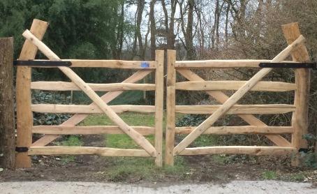matching Devon pattern chestnut field gates