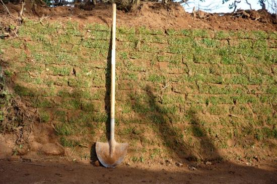 Turf hedge bank repair