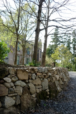 ancient limestone facing
