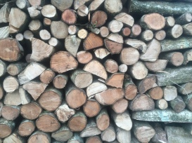 Stacked logs