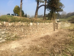 Completed dry stone wall