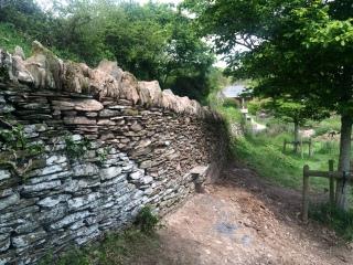 Roadside wall