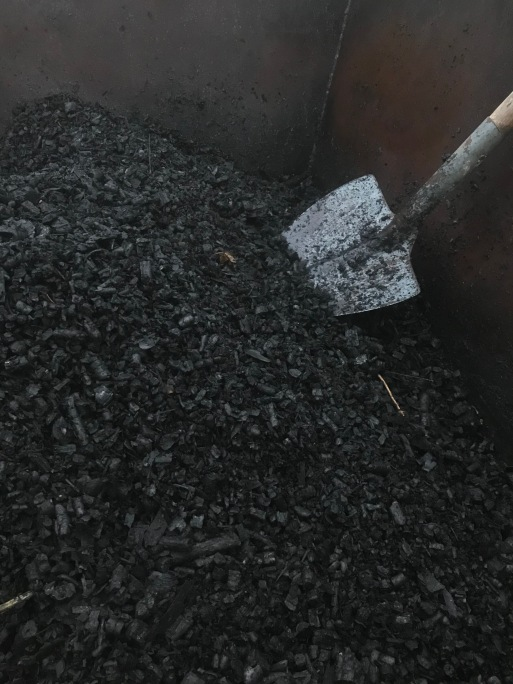 Biochar in the kiln